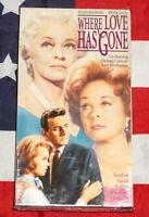 NEW Where Love Has Gone (VHS, 1964) Bette Davis, Susan Hayward, SEALED