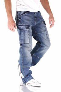 BIG SEVEN - BRIAN VINTAGE AGED - Cargo Jeans Comfort Fit Herren Hose - Neu
