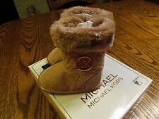 Michael Kors Baby Kelly Rose Gold Faux Fur Trim Boots Size 1 NIB