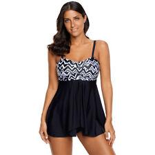 Plus Size Women Push-up Swimdress Tankini Sets Two Piece Swimsuit Bikini Set #XL