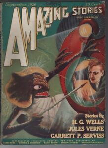 Amazing Stories 1926 September.   Pulp