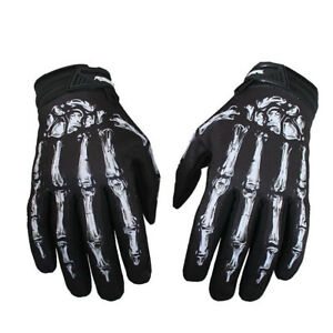 Cycling MTB XC Bike motocycle Full Finger Glove Ghost hand Sports Gloves 4 Sizes