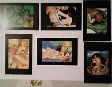 6 cartes postales Glamour Book Manara Giardino Liberatore Pazienza Bernardi