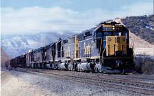 Santa Fe SD45 #5613 diesel locomotive train railroad postcard Cajon Pass