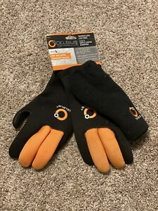 Celsius Neoprene Gloves & Hat Combo with Durable Grip Palm & Fingers Ice Gear