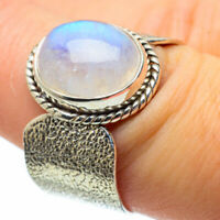 Rainbow Moonstone 925 Sterling Silver Ring Size 7.75 Ana Co Jewelry R29029F