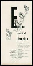 1947 Empire horse race Jamaica racetrack racing art vintage print ad