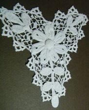 Edwardian Neck Decollete Irish hand crochet lace piece Passementary H made #1