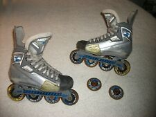 Mission Bsx Roller Hockey Blades Inline Skates Size 4 E, Decent Shape,Good Price