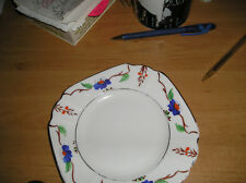 vintage Hand painted art deco era Melba ware side  plate blue flowers patern vgc