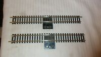 "Lot of 2, Atlas HO Scale Code 100 Brass 9"" Straight Terminal Track Snap-Track"