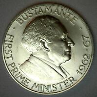 1975 BU Jamaica Dollar Copper Commemorative Copper-Nickel $1 World Coin
