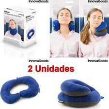 2 x Almohada cervical 37x25 con soportes para barbilla,varias formas,ideal viaje