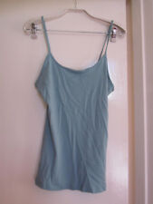 TU Blue - Green Soft Touch Cotton Modal Vest Top in Size 16 - NWOT