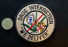 "DRUG INTERDICTION "" WE DELIVER"" POSTAL INSPECTOR  POLICE COLLECTORS  PATCH"