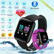 Reloj inteligente presión arterial de oxígeno de Ritmo Cardíaco Deporte Fitness Tracker Bluetooth 4.2