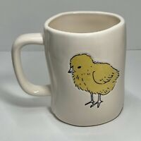 """Rae Dunn Easter/Spring Double-Sided Mug LL """"CUTE CHICK"""" & Cute Baby Chick NEW"""