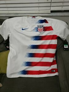 Nike USA Soccer USMNT 2018 Home Jersey SZ XLarge 100% Official/Licensed BNWT