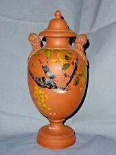 Rare Antique Watcombe Torquay Lidded Urn, Signed by JH Shenton, c1880