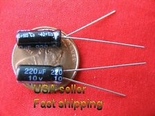 12 pcs  -  220uf 10v  105C  electrolytic capacitors