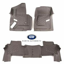 2015-2018 GMC Yukon Front & 2nd Row All Weather Floor Liner Pkg Cocoa OEM GM