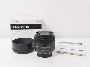 Sigma 30mm F1.4 DC HSM Art Lens for Nikon DX ~Excellent Condition