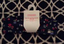 NWT Gymboree HOLLAND DAYS Line Headband Knit Navy Floral Vintage 2008 Rare & HTF