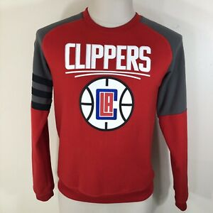 ADIDAS Los Angeles Clippers Red Crewneck Sweatshirt YOUTH Large 14-16 Boys NBA