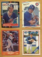 Mark Grace Rookie Lot Mint 1988 Score #80T, Donruss, Fleer, & Topps