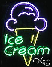 "BRAND NEW ""ICE CREAM"" 31x24 W/LOGO REAL NEON SIGN w/CUSTOM OPTIONS 10408"