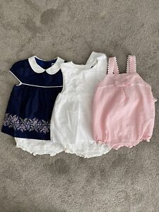 Janie And Jack Girls 3 Romper Set Size 18-24 Months