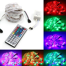 5M 300 LED RGB SMD Light Strip Tape 12V+ Remote Control + Adapter Kit Decor RLTS