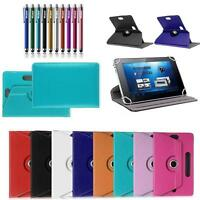 "Universal Leather Stand Box Case Cover For Android Asus Tablet 7"" 8"" inch w/ Pen"