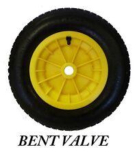 """Jaune brouette 16 """"roue pneumatique 4.80 / 4.00 - 8 innertube bent valve"""