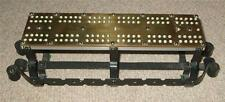 Antique Brass Cribbage Board on an Ornate Metal Base c1900