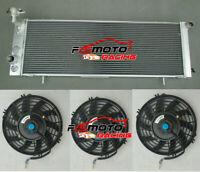 3 ROW ALUMINUM RADIATOR + 3*Fans for 91-01 Jeep Cherokee XJ Wagoneer L6 L4 Truck
