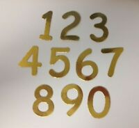 40 Gold Or Silver 0-9 Numbers Card Making Scrapbook Craft Embellishments Toppers