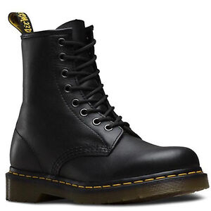 Dr. Martens Unisex 1460 8 Lace Up Leather Boots Shoes Doc Martins - Soft Nappa