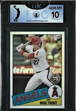 2020 TOPPS MIKE TROUT REFRACTOR #85TC-1 LOC 10 GEM MINT CHARITY AUCTION
