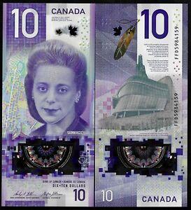 CANADA 10 DOLLARS - BC 77a - 2018 - GEM UNC - VIOLA DESMOND - IBNS WINNER - FFD