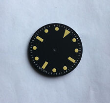 Vintage Yellow Milsub Watch Dial Seiko 7S26 NH35 Movement MOD 28.5mm