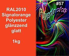 capa del polvo 1kg Polvo Para Recubrimiento ral2010 naranja señal