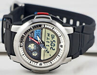Casio AQF-102W-7 Outgear THERMOMETER Watch 100M WR World Time 50 Lap Memory New