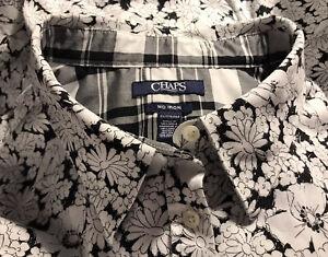 Ralph Lauren Chaps Plus Size 2X Black and White No Iron