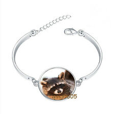 New Raccoon Bracelet Photo Glass Cabochon Tibet silver Bracelets