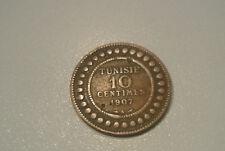 TUNISIE 10 CENTIMES 1907 A CUIVRE peu commune