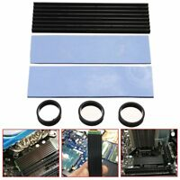 Aluminum Diffuse Heat Sink Cooling Black NGFF 2280 For SM961 960PRO M.2 NVMe