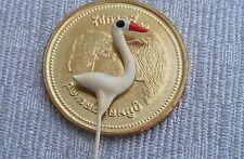 Pájaro de cerámica pequeño único escala 1:12 Casa De Muñecas Jardín árbol Pet Accesorio NLS