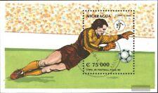 Nicaragua block190 (complete issue) used 1990 Football-WM ´90,