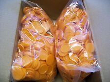 2000 Einkaufswagenchips  Wertmarken Pfandmarken Veranstaltung Ekw 02 Orange